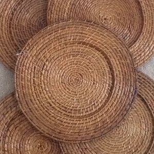 Other - New set of 5 Bamboo Charger Plates & Other | New Set Of 5 Bamboo Charger Plates | Poshmark